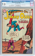 Golden Age (1938-1955):Superhero, Superman's Pal Jimmy Olsen #6 (DC, 1955) CGC VF- 7.5 Cream to off-white pages....