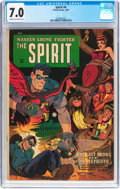 Golden Age (1938-1955):Crime, The Spirit #4 (Fiction House, 1953) CGC FN/VF 7.0 Cream to off-white pages....