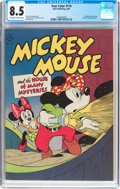 Golden Age (1938-1955):Cartoon Character, Four Color #116 Mickey Mouse (Dell, 1946) CGC VF+ 8.5 Off-white towhite pages....