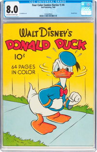 Four Color (Series One) #4 Donald Duck (Dell, 1940) CGC VF 8.0 Off-white to white pages
