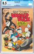 Golden Age (1938-1955):Cartoon Character, Four Color #159 Donald Duck (Dell, 1947) CGC VF+ 8.5 Cream to off-white pages....