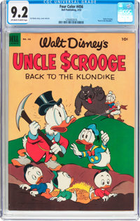 Four Color #456 Uncle Scrooge (Dell, 1953) CGC NM- 9.2 Off-white to white pages