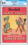 Golden Age (1938-1955):Funny Animal, March of Comics #4 Donald Duck - Sundial Variant (K. K.Publications, Inc., 1947) CGC VF+ 8.5 Cream to off-white pages....