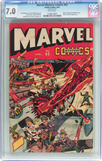 Marvel Mystery Comics #63 (Timely, 1945) CGC FN/VF 7.0 White pages