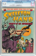 Golden Age (1938-1955):Horror, Skeleton Hand #1 (ACG, 1952) CGC VF/NM 9.0 Cream to off-whitepages....
