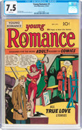Golden Age (1938-1955):Romance, Young Romance Comics #1 (Prize, 1947) CGC VF- 7.5 White pages....