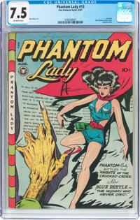 Phantom Lady #13 (Fox Features Syndicate, 1947) CGC VF- 7.5 Off-white pages