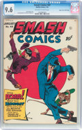 Golden Age (1938-1955):Superhero, Smash Comics #49 Mile High Pedigree (Quality, 1944) CGC NM+ 9.6 Off-white to white pages....