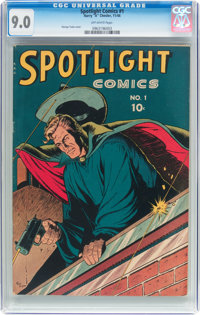 Spotlight Comics #1 (Chesler, 1944) CGC VF/NM 9.0 Off-white pages