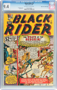 Black Rider #9 Mile High Pedigree (Atlas, 1950) CGC NM 9.4 Off-white to white pages