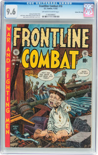 Frontline Combat #10 Gaines File Pedigree (EC, 1953) CGC NM+ 9.6 Off-white to white pages