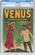 Golden Age (1938-1955):Romance, Venus #7 (Timely, 1949) CGC VF 8.0 Off-white to white pages....