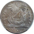 Colonials, 1787 CENT Fugio Cent, STATES UNITED, 4 Cinquefoils, Pointed Rays, MS63 Brown PCGS. N. 13-X, W-6855, R.2....