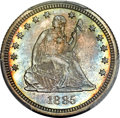 Proof Seated Quarters, 1885 25C PR66+ PCGS. CAC. Briggs 3-B....