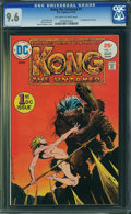 Bronze Age (1970-1979):Miscellaneous, Kong the Untamed #1 (DC, 1975) CGC NM+ 9.6 Off-white to white pages.