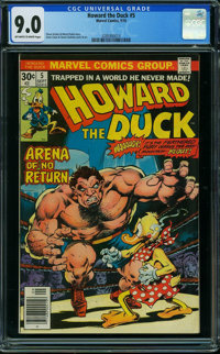 Howard the Duck #5 (Marvel, 1976) CGC VF/NM 9.0 Off-white to white pages