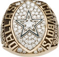 Football Collectibles:Others, 1992 Dallas Cowboys Super Bowl XXVII Championship Ring Presented to Linebacker Dixon Edwards....