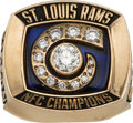 Football Collectibles:Others, 2001 St. Louis Rams NFC Championship Ring Presented to Sherrod Gideon....