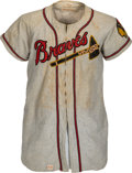 Baseball Collectibles:Uniforms, 1949 Earl Torgeson Game Worn Boston Braves Jersey & Pants. ...