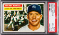 Baseball Cards:Singles (1950-1959), 1956 Topps Mickey Mantle (Gray Back) #135 PSA NM-MT+ 8.5....