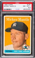 Baseball Cards:Singles (1950-1959), 1958 Topps Mickey Mantle #150 PSA NM-MT+ 8.5....