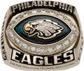 Football Collectibles:Others, 2004 Philadelphia Eagles NFC Championship Ring Presented to Billy McMullen....