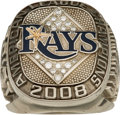 Baseball Collectibles:Others, 2008 Tampa Bay Rays American League Championship Ring....