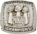 Football Collectibles:Others, 2007 New York Giants Super Bowl XLII Championship Ring Presented to Offensive Tackle Guy Whimper....