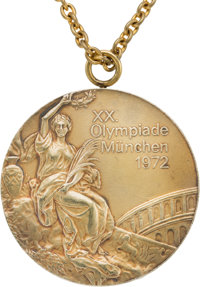 1972 Munich Olympics Individual Floor Exercise Gold Medal from The Olga Korbut Collection