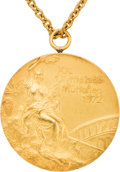 Miscellaneous Collectibles:General, 1972 Munich Olympics USSR Women's Gymnastics Team Gold Medal from The Olga Korbut Collection....