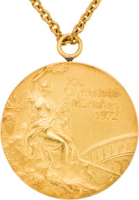 1972 Munich Olympics USSR Women's Gymnastics Team Gold Medal from The Olga Korbut Collection
