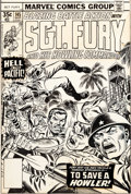 Original Comic Art:Covers, Dave Cockrum Sgt. Fury #145 Cover Original Art (Marvel,1978)....