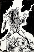 Original Comic Art:Covers, Dave Cockrum Blackhawk #256 Unpublished Cover Original Art(DC, 1983)....