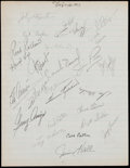 Baseball Collectibles:Others, 1965 Minnesota Twins Signed Team Sheet Including Killebrew &Oliva. ...