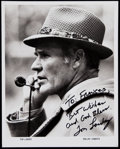 Football Collectibles:Photos, Tom Landry Signed 8x10 Photo. ...