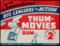 Baseball Cards:Unopened Packs/Display Boxes, Rare 1937 R342 Goudey Baseball Thum-Movies Retail Store Sign. ...