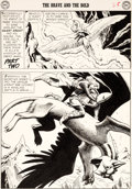 Original Comic Art:Panel Pages, Russ Heath Brave and the Bold #22 Story Page 9 Silent KnightOriginal Art (DC, 1959)....