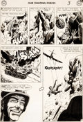 Original Comic Art:Panel Pages, Russ Heath Our Fighting Forces #28 Story Page 3 Original Art(DC, 1957)....