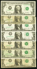 Error Notes:Error Group Lots, A Selection of Minor Error $1 FRNs. . ... (Total: 7 notes)