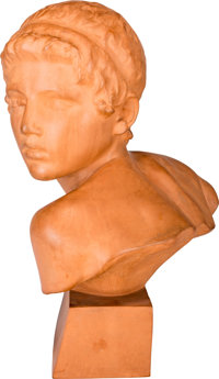 Constant Roux (French, 1865-1929) Young Achilles, circa 1925 Terracotta 17 inches (43.2 cm) high<