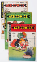 Golden Age (1938-1955):Miscellaneous, Ace Comics Group of 6 (David McKay Publications, 1942-46) Condition: Average FN/VF.... (Total: 6 Comic Books)