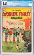 Golden Age (1938-1955):Superhero, World's Finest Comics #62 (DC, 1953) CGC VG- 3.5 Off-white to white pages....