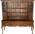 Furniture : English, An English Queen Anne-Style Oak and Pine Dresser, 19th century. 83-1/4 h x 83 w x 19-1/2 d inches (211.5 x 210.8 x 49.5 cm)...