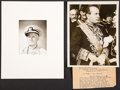 Autographs:Military Figures, Chester Nimitz Signed Photograph. ... (Total: 2 Items)