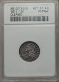 Bust Dimes, 1814 10C Large Date -- Cleaned -- ANACS. AU Details, Net XF40. NGCCensus: (0/139). PCGS Population: (5/174). CDN: $210...