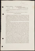 Militaria:Ephemera, [Civil War]. Lincoln Proclamation Regarding Blockades....