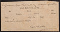 Miscellaneous, [Civil War]. Captured Confederate Hospital Pass. ...