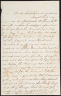 Militaria:Ephemera, [Civil War]. Confederate Soldier's Letter by P.E. Hedrick. ...