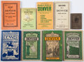 Books:Maps & Atlases, [Colorado]. Group of Nine Denver, Colorado Street Maps.... (Total: 9 Items)