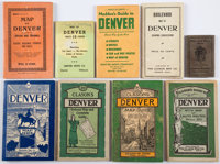 [Colorado]. Group of Nine Denver, Colorado Street Maps